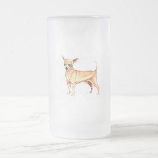 Frostad Glass mugg för Chihuahua