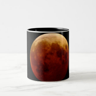Frostad glass mugg för Lunar måne för förmörkelse