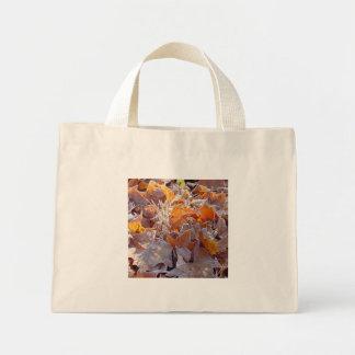 Frostad höst löv kanfastoto tygkassar