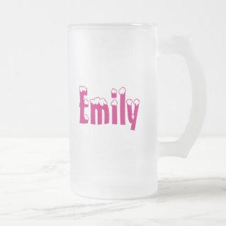 Frostad mugg för Emily-Namn stil
