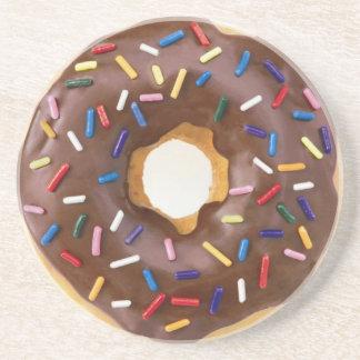 Frostade Donuts för choklad Underlägg