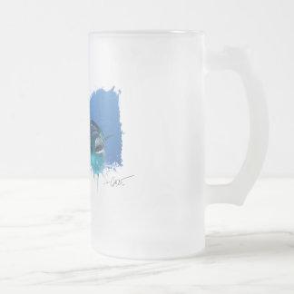 Frostat ölexponeringsglas för hungrig tonfisk frostat ölglas