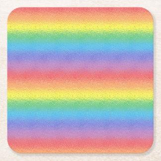 Frostat regnbågepappersunderlägg underlägg papper kvadrat