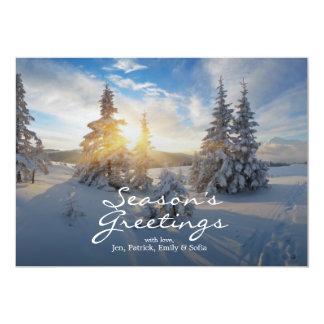 Frostig morgon i bergen 12,7 x 17,8 cm inbjudningskort