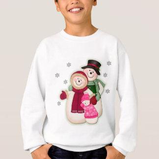 Frostig snögubbefamilj - rosa t-shirts