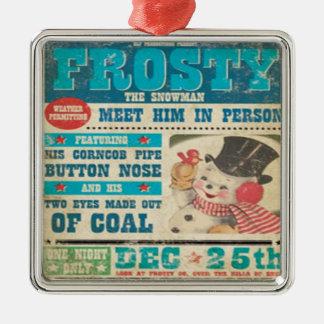 Frostig vintagejulprydnad julgransprydnad metall