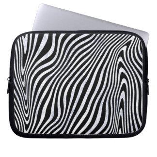 Frostig zebra ränder laptop datorskydd