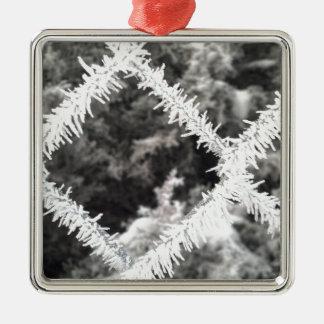 Frostigt foto julgransprydnad metall