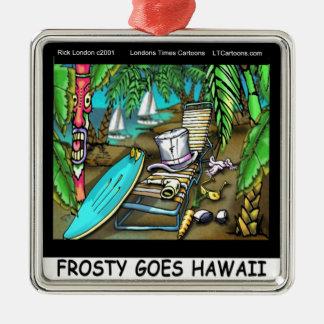 Frostigt Hawaii går den roliga julen Julgransprydnad Metall