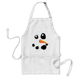Frostigt le för snögubbe förkläde