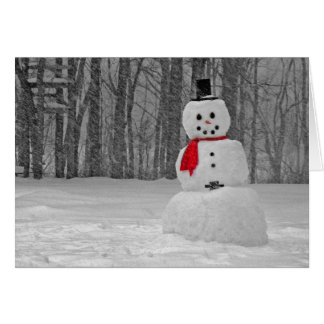 Frostigt snögubben hälsningskort