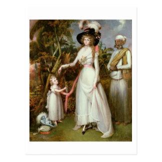 Fru Graham av Kinross, henne dotter och en Vykort