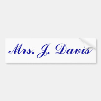 Fru J. Davis Bildekal
