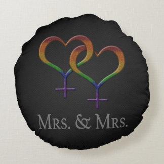 Fru och Fru Lesbisk Vara stolt över Rund Kudde