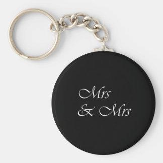 Fru och Fru Rund Nyckelring