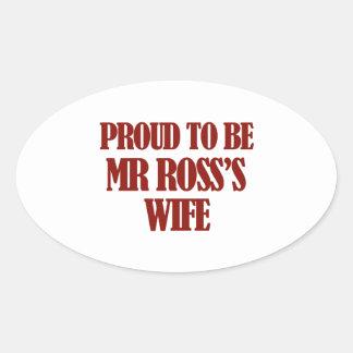 Fru Ross designer Ovalt Klistermärke