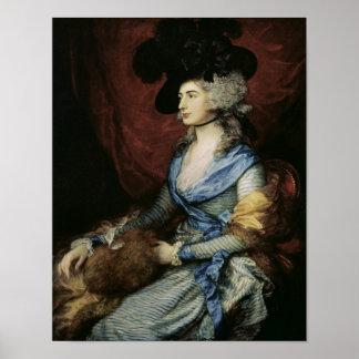Fru Sarah Siddons, aktrisen, 1785 Posters