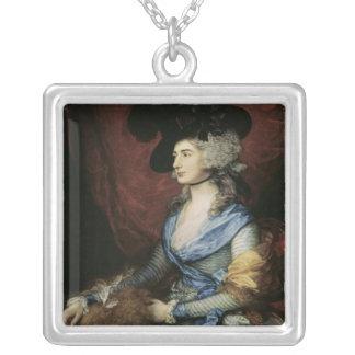 Fru Sarah Siddons, aktrisen, 1785 Silverpläterat Halsband