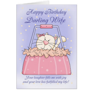 Frufödelsedagkort - gulligt valphandväskahusdjur hälsningskort