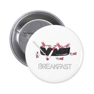 """Frukost "", Standard Knapp Rund 5.7 Cm"