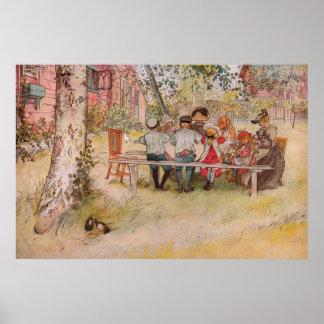 Frukost under björken av Carl Larsson
