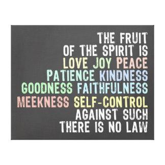 Frukt av för svart tavlaLook för ande versen för Canvastryck