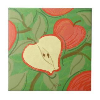 Frukt belägger med tegel: Apple Kakelplatta