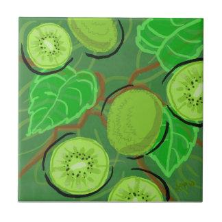 Frukt belägger med tegel:  Kiwis Kakelplatta