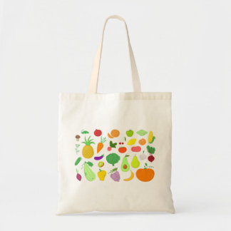 Frukt- och grönsaktoto tygkasse
