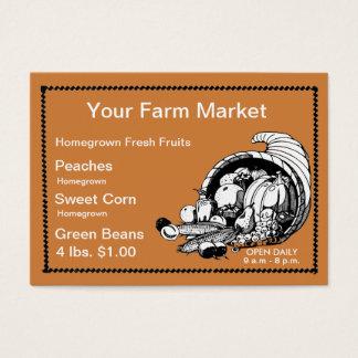 Frukt och loppmarknad för Retro Visitkort