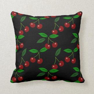 Frukt och löv för klassiker kudder körsbärsröd 2 kuddar