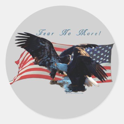 """""""Frukta inte mer! """"Eagle-/USflaggagåva Klistermärke"""