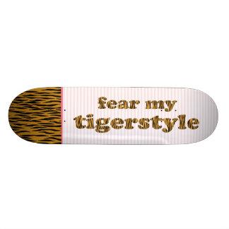 Frukta min Tigerstyle roliga Tigerprint Skateboard Bräda 19,5 Cm
