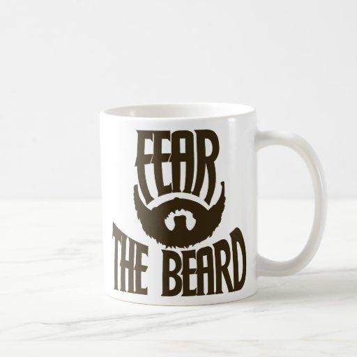 Frukta skägget kaffe muggar