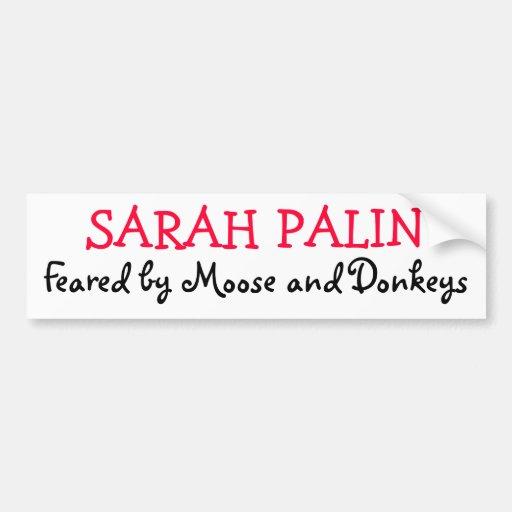 Fruktat av älg och åsnor, SARAH PALIN Bildekal