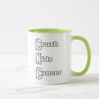 """""""Fruktdryckunge mugg för grönt för cancer"""""""