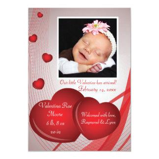 Frukter av kortet för kärlekfotovalentin 12,7 x 17,8 cm inbjudningskort