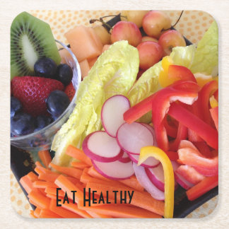 Frukter och grönsaker underlägg papper kvadrat