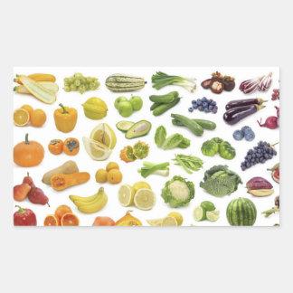 Frukter och Veggies! Rektangulärt Klistermärke