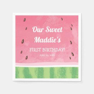 Fruktig födelsedag för pappersservetter