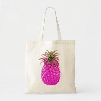 Fruktig rosa ananastoto budget tygkasse