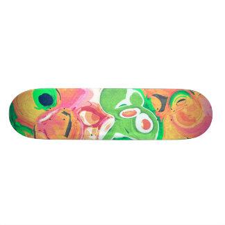 Fruktigt virvla runt det abstrakt skridskodäcket skateboard bräda 21,5 cm
