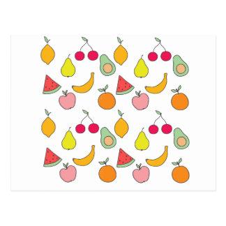 fruktmönster vykort