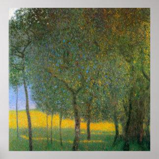 Fruktträd av Gustav Klimt Poster