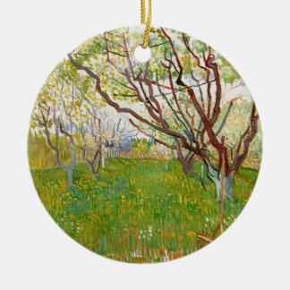 Fruktträdgård i blomVincent Van Gogh konst Julgransprydnad Keramik