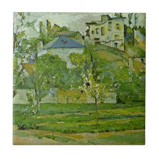 Fruktträdgård i Pontoise av Paul Cezanne Kakelplatta