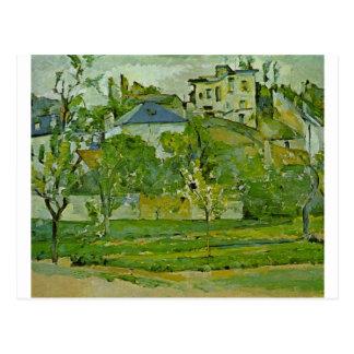 Fruktträdgård i Pontoise av Paul Cezanne Vykort