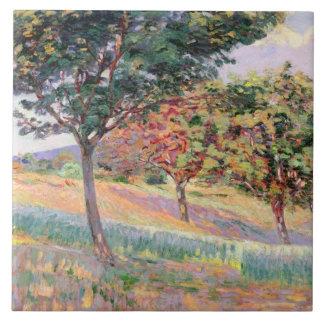Fruktträdgård på St. Cheron, 1893 (olja på kanfas) Kakelplatta