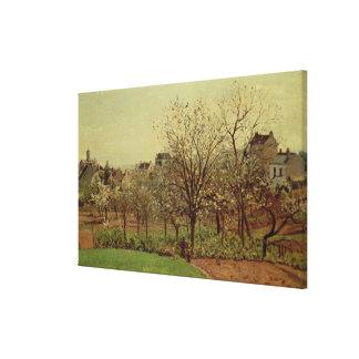 Fruktträdgården, 1870 (olja på kanfas) canvastryck