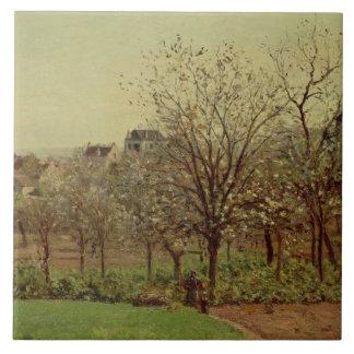Fruktträdgården, 1870 (olja på kanfas) kakelplatta